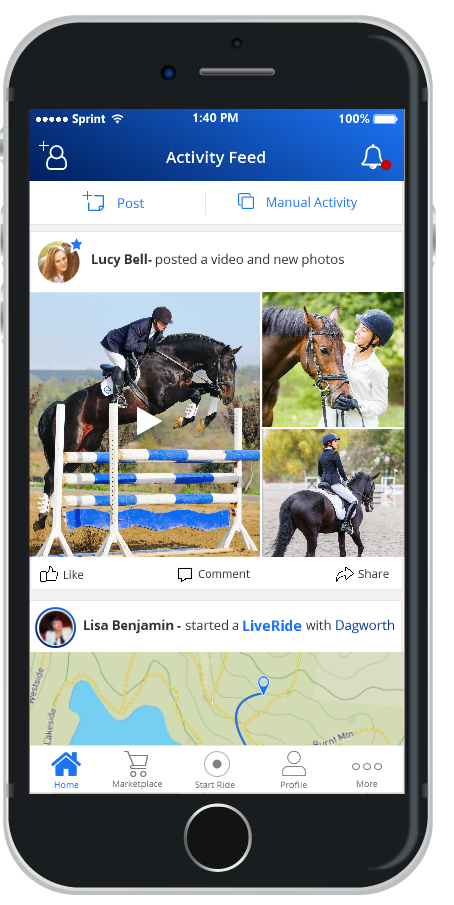 Huufe: The Equestrian Activity Tracking and Social Media App